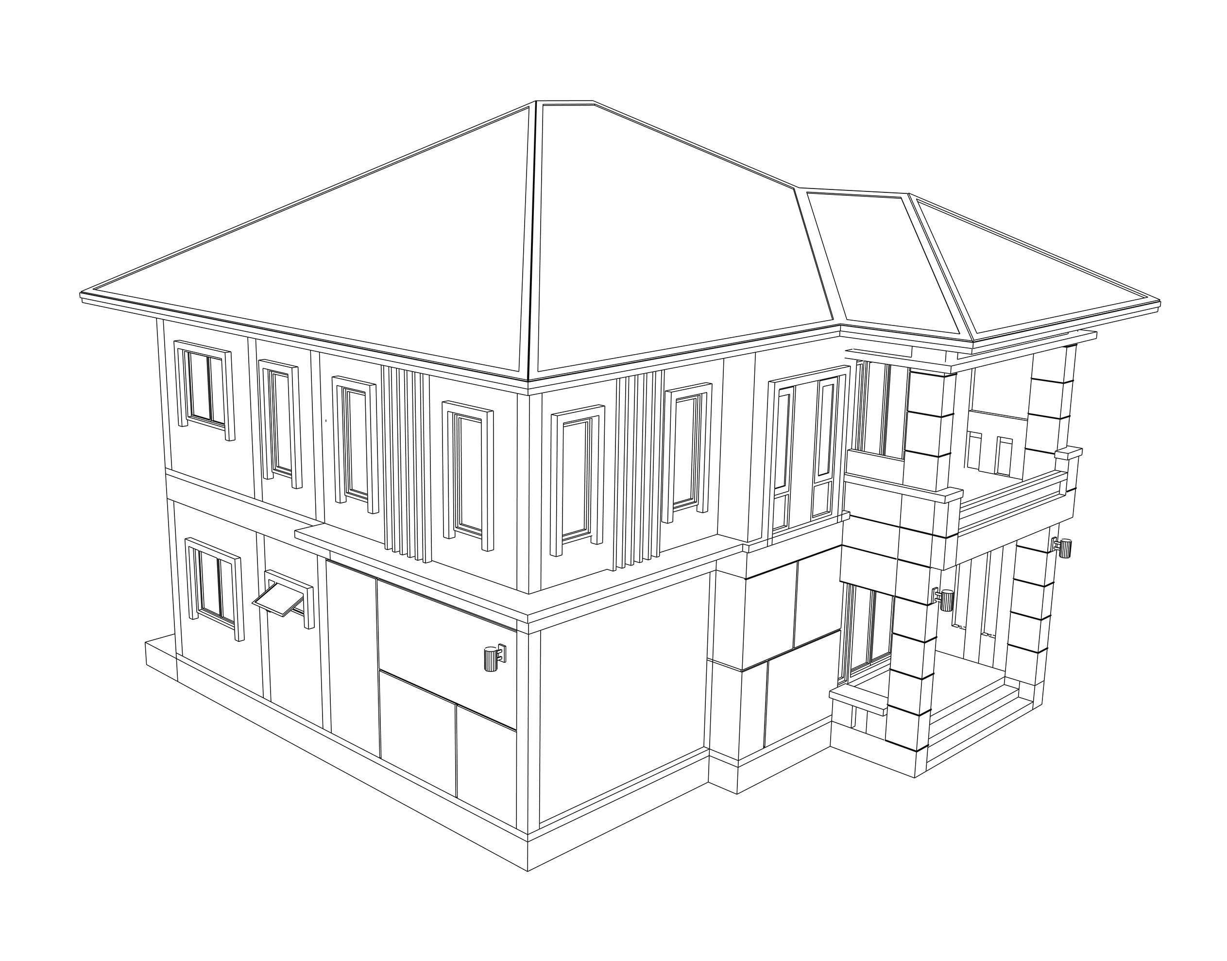 schemat dachu kopertowego