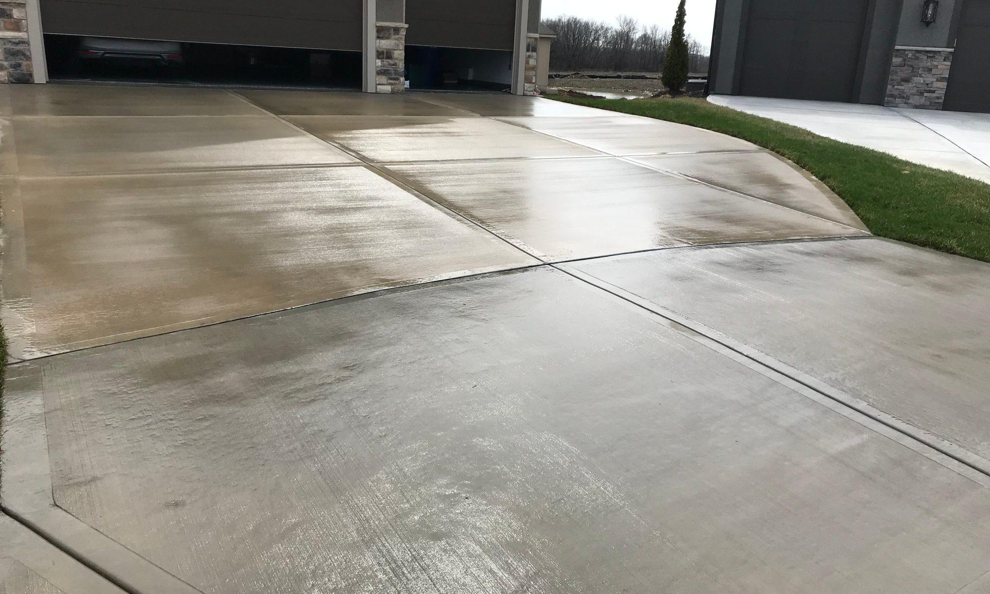 betonowy podjazd