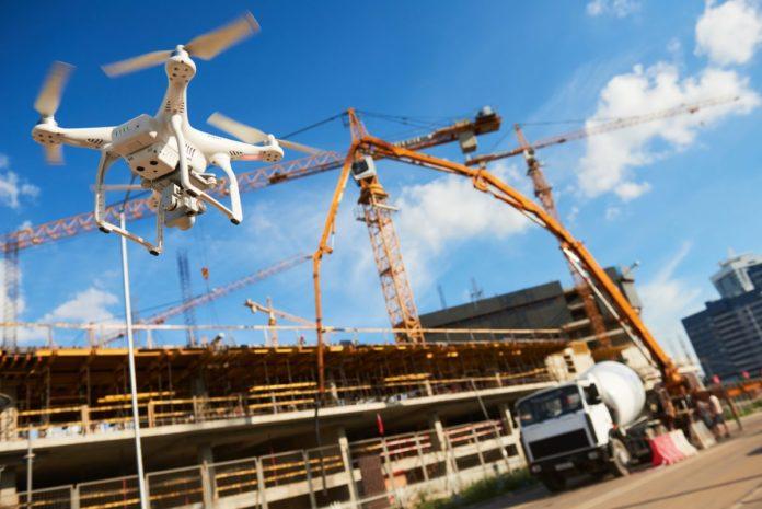 drony w branży budowlanej